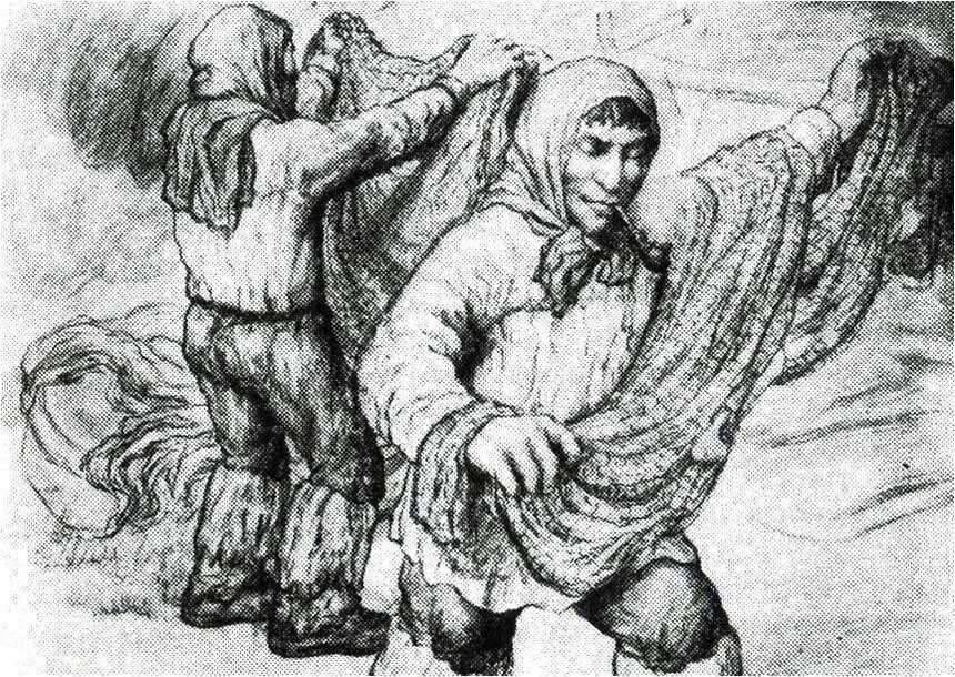 Д.И. Каратанов. «Кеты-рыбаки», 1928 г.
