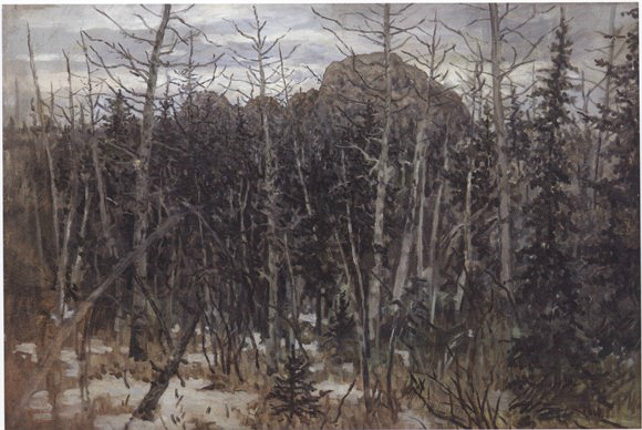 Д.И. Каратанов. «Столбы» (Хмурая весна).