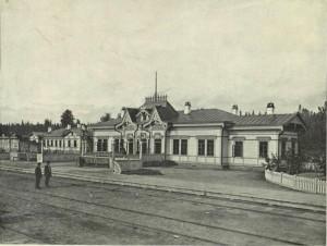 Пассажирское здание на станции Обь