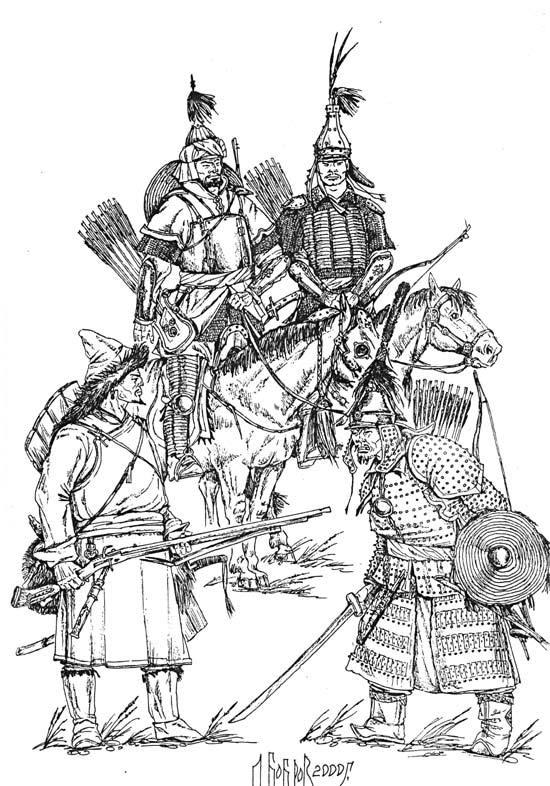 Реконструкция джунгарских и халхасских воинов