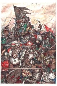 Рис. 5. Битва у Дзун-Мод (весна 1696 г.)