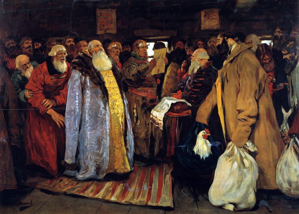 Приезд воеводы (картина С.В. Иванова)