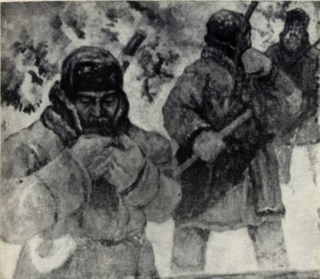 Д.И. Каратанов. «Охотники», 1948 г.