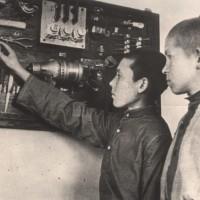 Выпускники школы ФЗО №20 г. Новосибирска Вася Чулков и Толя Ануфриев. 1944 г.