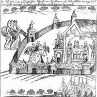 Сбор ясака. Миниатюра из Ремезовской летописи